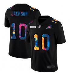 Philadelphia Eagles 10 Desean Jackson Men Nike Multi Color Black 2020 NFL Crucial Catch Vapor Untouchable Limited Jersey