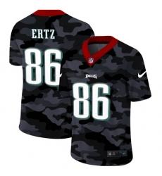 Philadelphia Eagles 86 Zach Ertz Men Nike 2020 Black CAMO Vapor Untouchable Limited Stitched NFL Jersey