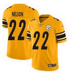 Men Pittsburgh Steelers 22 Steven Nelson Gold Football Limited Inverted Legend Jersey