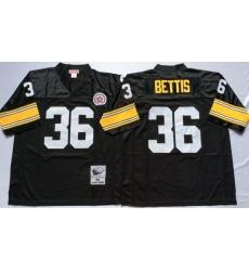 Men Pittsburgh Steelers 36 Jerome Bettis Black M&N Throwback Jersey