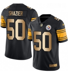 Mens Nike Pittsburgh Steelers 50 Ryan Shazier Limited BlackGold Rush Vapor Untouchable NFL Jersey
