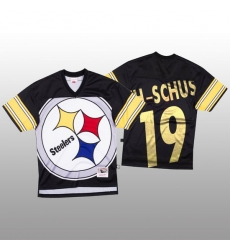 NFL Pittsburgh Steelers 19 JuJu Smith Schuster Black Men Mitchell  26 Nell Big Face Fashion Limited NFL Jersey