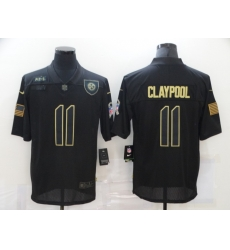Nike Pittsburgh Steelers 11 Chase Claypool Black 2020 Salute To Service Limited Jersey