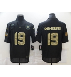 Nike Pittsburgh Steelers 19 JuJu Smith Schuster Black Camo 2020 Salute To Service Limited Jersey