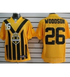 Nike Pittsburgh Steelers 26 Rod Woodson Yellow Elite 1933s Throwback NFL Jersey