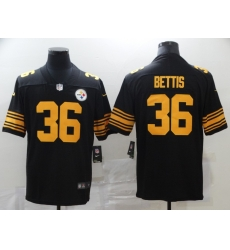 Nike Pittsburgh Steelers 36 Jerome Bettis Black Color Rush Limited Jersey