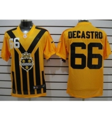 Nike Pittsburgh Steelers 66 David DeCastro Yellow 1933s Throwback Elite NFL Jersey