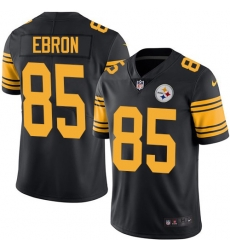 Nike Pittsburgh Steelers 85 Eric Ebron Black Men Stitched NFL Limited Rush Jersey