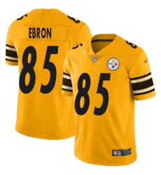 Nike Pittsburgh Steelers 85 Eric Ebron Gold Men Stitched NFL Limited Inverted Legend Jersey