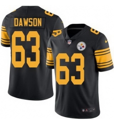 Nike Steelers #63 Dermontti Dawson Black Mens Stitched NFL Limited Rush Jersey
