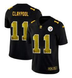 Pittsburgh Steelers 11 Chase Claypool Men Black Nike Golden Sequin Vapor Limited NFL Jersey
