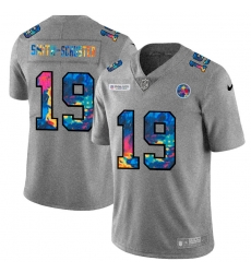 Pittsburgh Steelers 19 JuJu Smith Schuster Men Nike Multi Color 2020 NFL Crucial Catch NFL Jersey Greyheather
