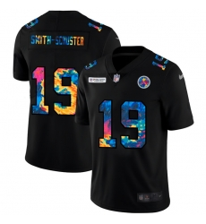 Pittsburgh Steelers 19 JuJu Smith Schuster Men Nike Multi Color Black 2020 NFL Crucial Catch Vapor Untouchable Limited Jersey