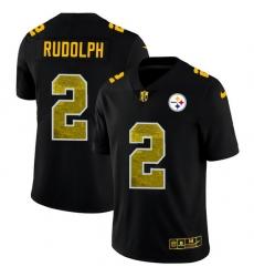 Pittsburgh Steelers 2 Mason Rudolph Men Black Nike Golden Sequin Vapor Limited NFL Jersey