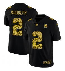 Pittsburgh Steelers 2 Mason Rudolph Men Nike Leopard Print Fashion Vapor Limited NFL Jersey Black
