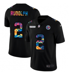 Pittsburgh Steelers 2 Mason Rudolph Men Nike Multi Color Black 2020 NFL Crucial Catch Vapor Untouchable Limited Jersey