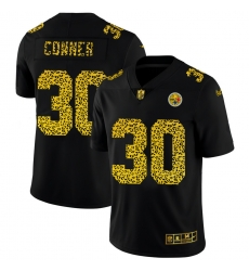 Pittsburgh Steelers 30 James Conner Men Nike Leopard Print Fashion Vapor Limited NFL Jersey Black