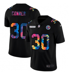 Pittsburgh Steelers 30 James Conner Men Nike Multi Color Black 2020 NFL Crucial Catch Vapor Untouchable Limited Jersey