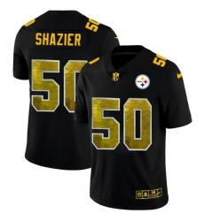 Pittsburgh Steelers 50 Ryan Shazier Men Black Nike Golden Sequin Vapor Limited NFL Jersey