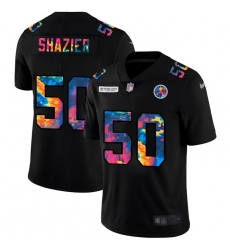 Pittsburgh Steelers 50 Ryan Shazier Men Nike Multi Color Black 2020 NFL Crucial Catch Vapor Untouchable Limited Jersey