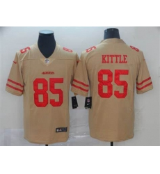 Men Nike 49ers 85 George Kittle Cream Inverted Legend Limited Jersey