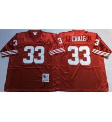 Men San Francisco 49ers 33 Roger Craig Red M&N Throwback Jersey