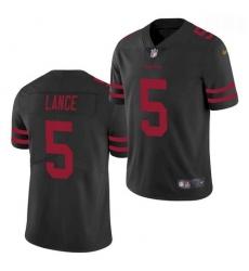Men San Francisco 49ers #5 Trey Lance Jersey Black 2021 Limited Football