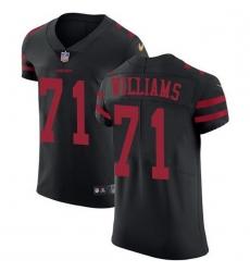 Men San Francisco 49ers 71 Trent Williams Black Alternate Men Stitched NFL Vapor Untouchable Elite Jersey
