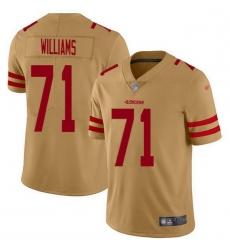 Men San Francisco 49ers 71 Trent Williams Gold Men Stitched NFL Limited Inverted Legend Jersey