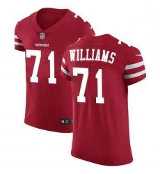 Men San Francisco 49ers 71 Trent Williams Red Team Color Men Stitched NFL Vapor Untouchable Elite Jersey