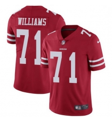 Men San Francisco 49ers 71 Trent Williams Red Team Color Men Stitched NFL Vapor Untouchable Limited Jersey
