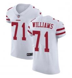 Men San Francisco 49ers 71 Trent Williams White Men Stitched NFL Vapor Untouchable Elite Jersey