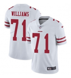 Men San Francisco 49ers 71 Trent Williams White Men Stitched NFL Vapor Untouchable Limited Jersey