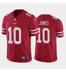 Men San Francisco 49ers Mac Jones Red 2021 Draft Jersey