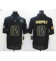 Nike San Francisco 49ers 10 Jimmy Garoppolo Black 2020 Salute To Service Limited Jersey