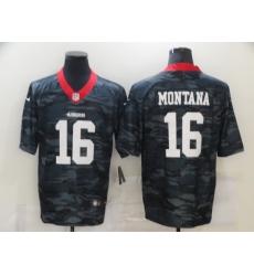 Nike San Francisco 49ers 16 Joe Montana Black Camo Limited Jersey