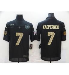 Nike San Francisco 49ers 7 Colin Kaepernick Black Camo 2020 Salute To Service Limited Jersey