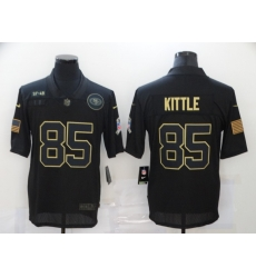 Nike San Francisco 49ers 85 George Kittle Black 2020 Salute To Service Limited Jersey