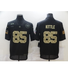 Nike San Francisco 49ers 85 George Kittle Black Camo 2020 Salute To Service Limited Jersey