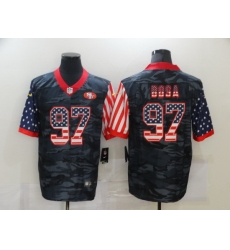 Nike San Francisco 49ers 97 Nick Bosa Black Camo USA Flag Limited Jersey