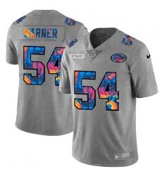 San Francisco 49ers 54 Fred Warner Men Nike Multi Color 2020 NFL Crucial Catch NFL Jersey Greyheather