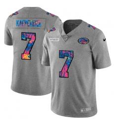 San Francisco 49ers 7 Colin Kaepernick Men Nike Multi Color 2020 NFL Crucial Catch NFL Jersey Greyheather