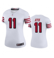 Women San Francisco 49ers Brandon Aiyuk 11 White Rush Jersey