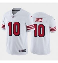 Women San Francisco 49ers Mac Jones Color Rush White 2021 Draft Jersey