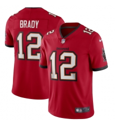 Men Nike Tampa Bay Buccaneers 12 Tom Brady Red Vapor Limited NFL Stitched Jersey