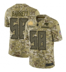 Men Nike Tampa Bay Buccaneers 58 Shaquil Barrett Camo Men Super Bowl LV Champions Patch Stitched NFL Limited 2018 Salute To Service Jersey