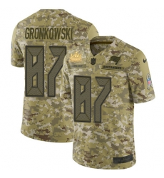 Men Nike Tampa Bay Buccaneers 87 Rob Gronkowski Suh Camo Men Super Bowl LV Champions Patch Stitched NFL Limited 2018 Salute To Service Jersey