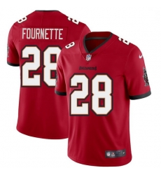 Men Tampa Bay Buccaneers 28 Leonard Fournette Men Nike Red Vapor Limited Jersey