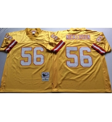 Men Tampa Bay Buccaneers 56 Hardy Nickerson Yellow M&N Throwback Jersey
