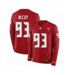 Mens Nike Tampa Bay Buccaneers 93 Gerald McCoy Limited Red Therma Long Sleeve NFL Jersey